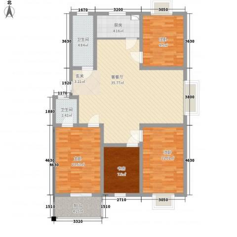 旺旺家缘4室1厅2卫1厨135.00㎡户型图