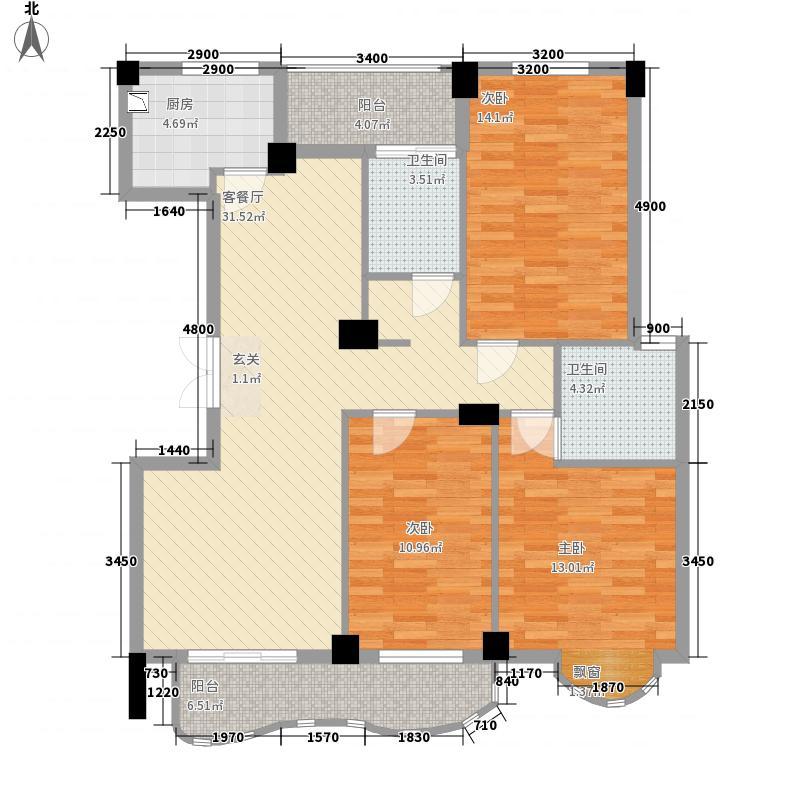 中地・滨江国际18124.20㎡18号楼B4-1双卫户型3室2厅2卫
