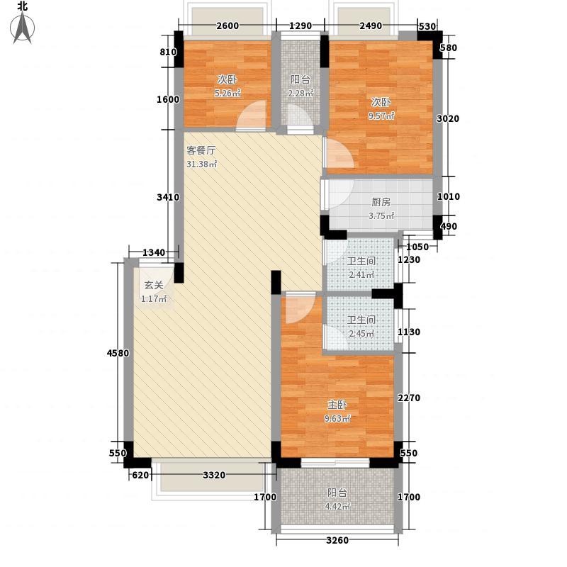 易筑88.61㎡13栋1~3单元01、0户型3室2厅2卫1厨