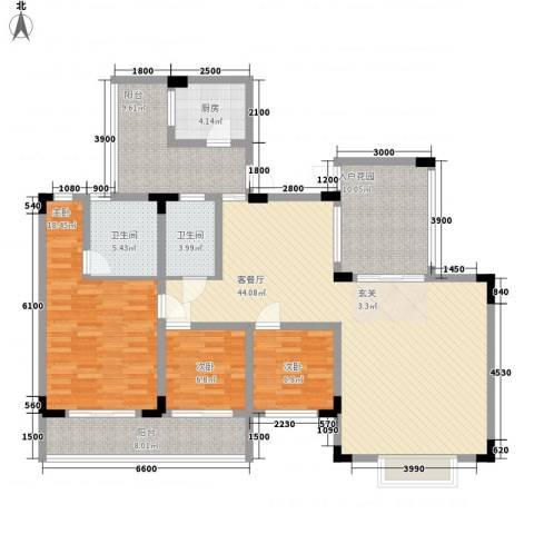 易筑3室1厅2卫1厨118.00㎡户型图