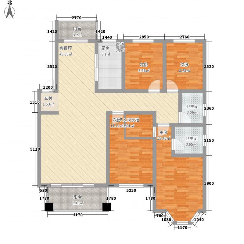 宏景湾163.50㎡1-D户型3室2厅2卫1厨