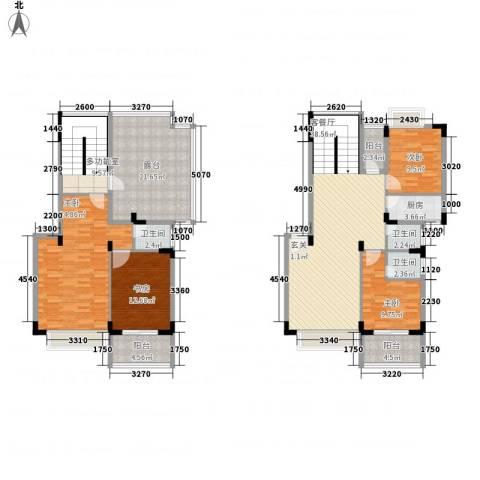 易筑4室1厅3卫1厨158.00㎡户型图