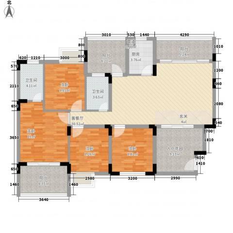 易筑4室1厅2卫1厨121.00㎡户型图