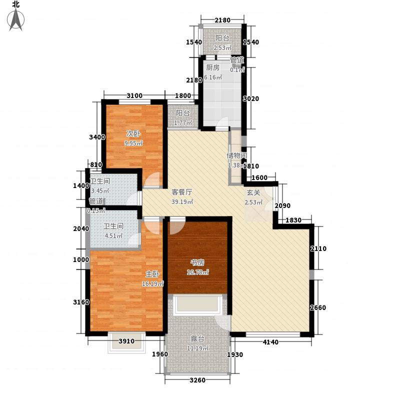 万隆苑3居室户型
