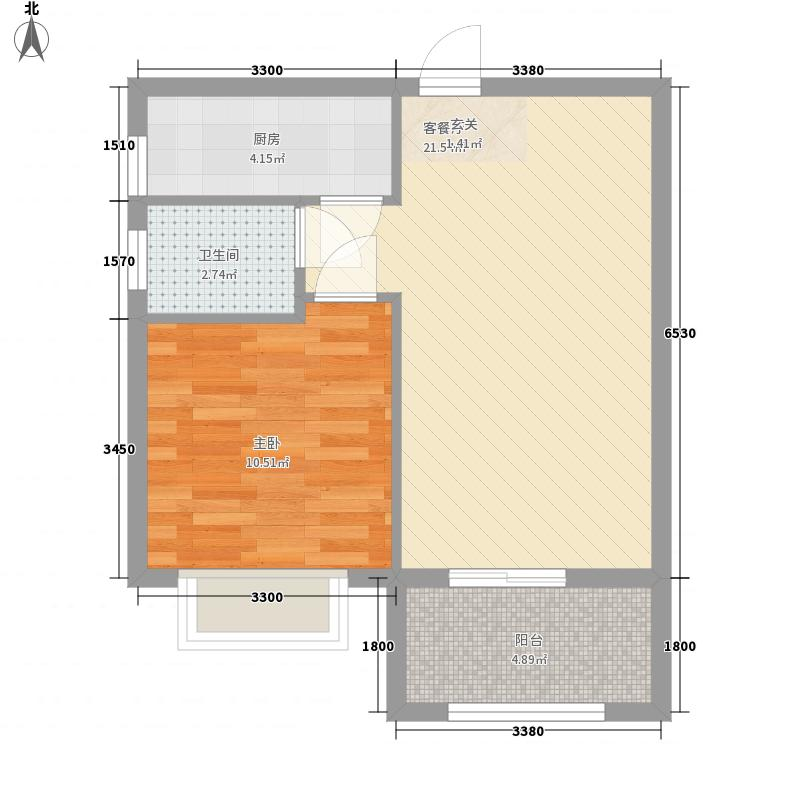 鸿祥和府户型1室2厅1卫