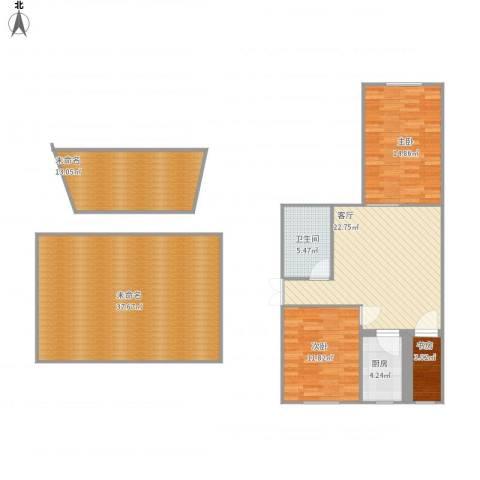 东华里3室1厅1卫1厨152.00㎡户型图