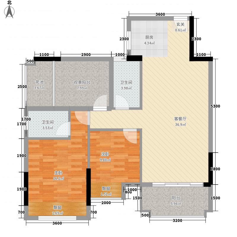 世纪之光12225.20㎡户型2室2厅2卫1厨