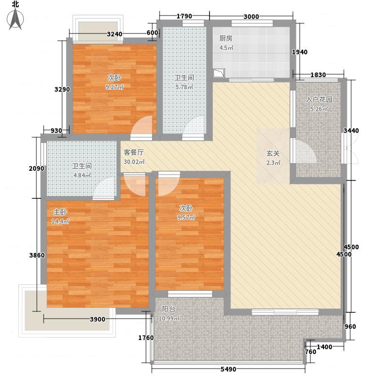松达・丽水湾12.50㎡G户型3室2厅2卫1厨