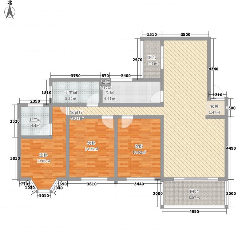 宏景湾163.50㎡1-A户型3室2厅2卫1厨