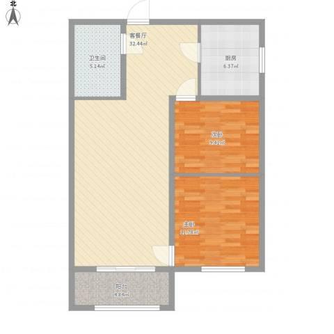 泛泰依山郡2室1厅1卫1厨98.00㎡户型图