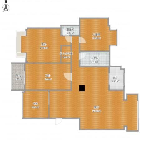 碧海云天4室1厅2卫1厨171.00㎡户型图