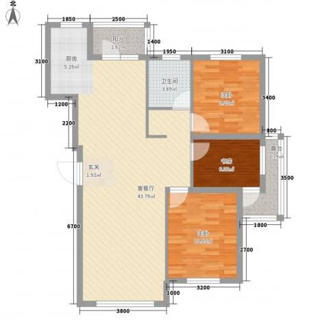 联发・香水湾3室1厅1卫0厨79.18㎡户型图