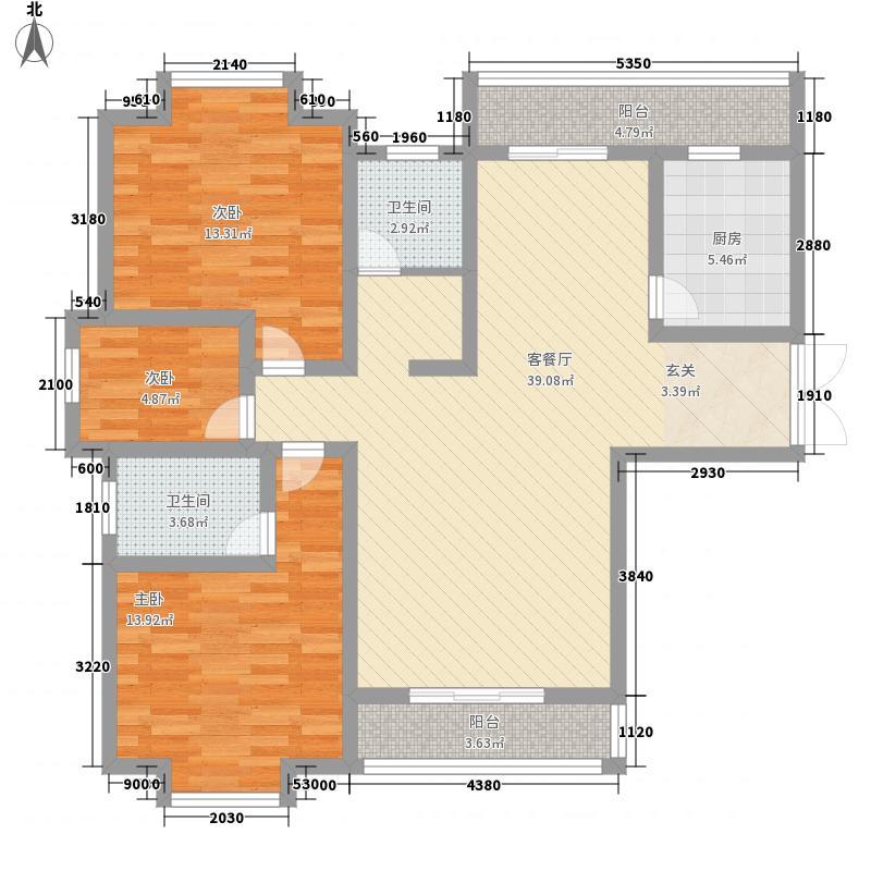 龙蟠汇景131.25㎡1户型3室2厅2卫1厨