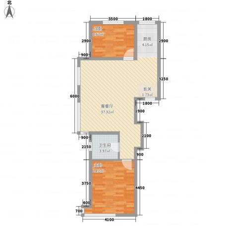 联发・香水湾2室1厅1卫0厨84.00㎡户型图