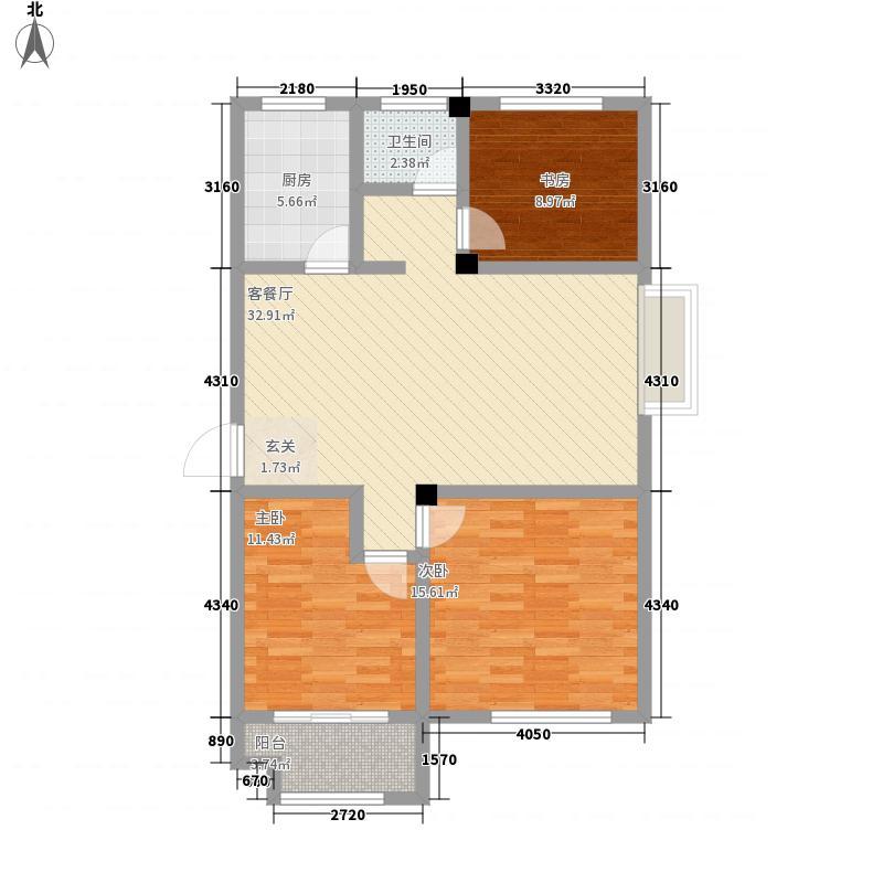 石臼老街116.00㎡16-A户型3室2厅1卫1厨
