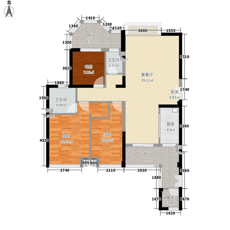 唐程御品146146.20㎡户型3室2厅2卫1厨