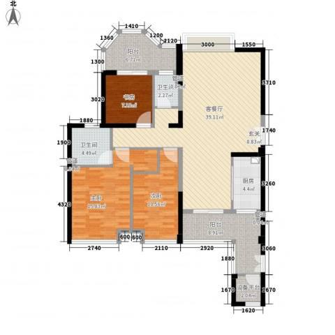 唐程御品3室1厅2卫1厨146146.00㎡户型图