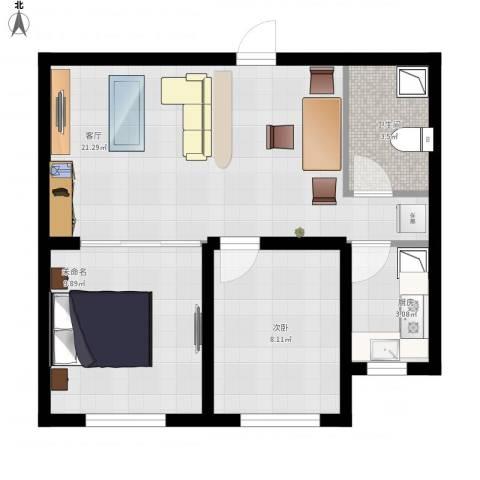 格林英郡1室1厅1卫1厨67.00㎡户型图