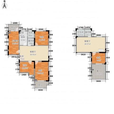 莱茵河畔花园5室4厅2卫1厨187.00㎡户型图