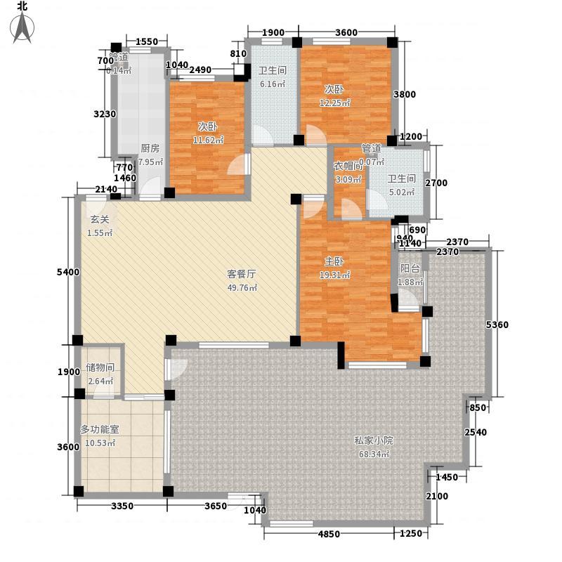 晓翠园175.00㎡户型4室
