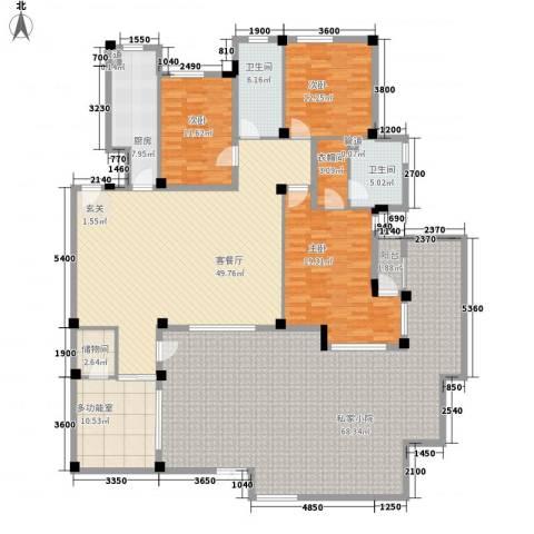 晓翠园3室1厅2卫1厨198.75㎡户型图