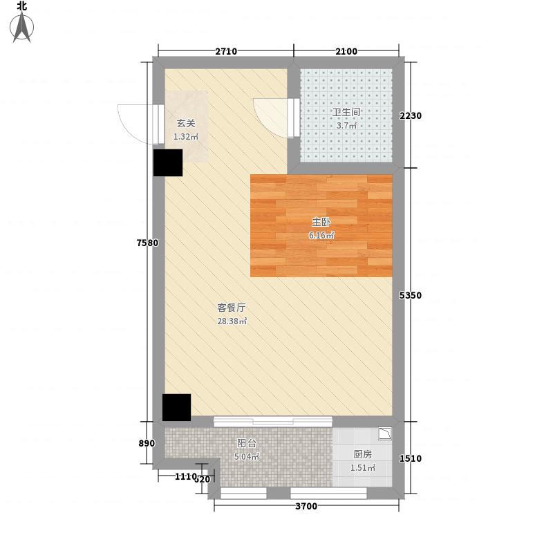 时代温泉公寓54.24㎡户型