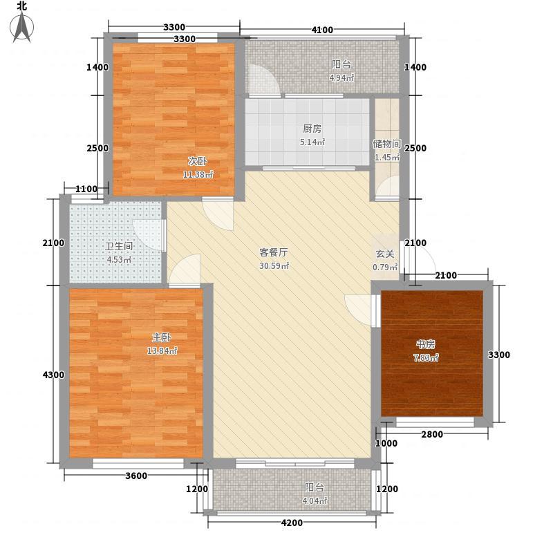 绿地・山水城11.00㎡溪境洋房户型3室2厅1卫