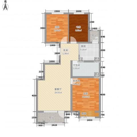 保利・香槟花园2室1厅1卫1厨118.00㎡户型图