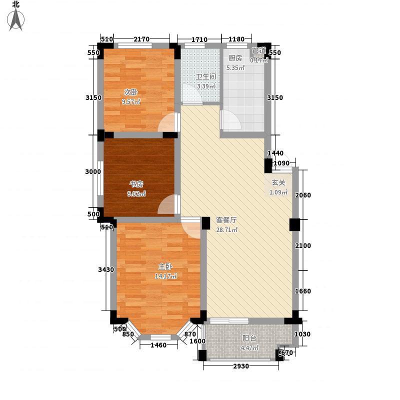 中辰格林童话B1户型3室2厅1卫1厨