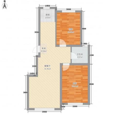 联发・香水湾2室1厅1卫0厨85.00㎡户型图