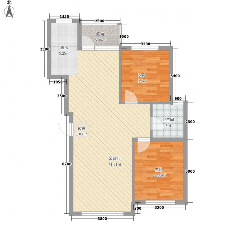 联发・香水湾112.11㎡二期I户型3室2厅1卫1厨