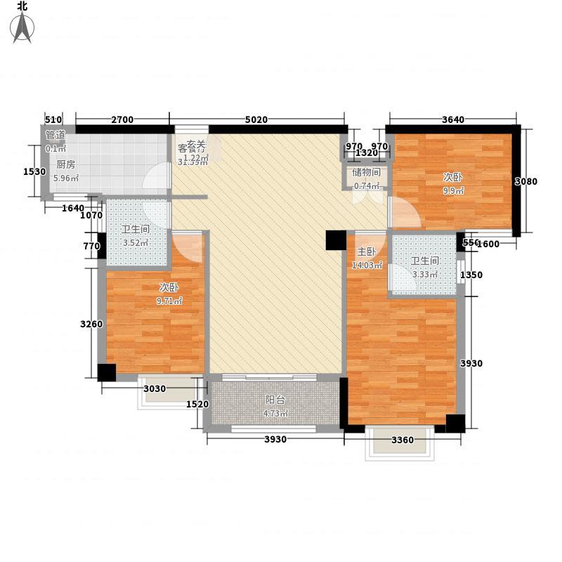正大锦城14118.20㎡D14_08_户型3室2厅2卫1厨