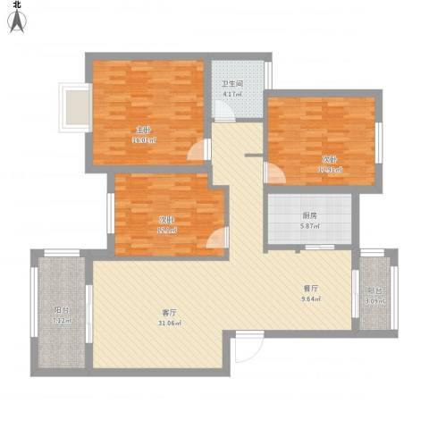 瑞园小区10-1-1023室1厅1卫1厨146.00㎡户型图