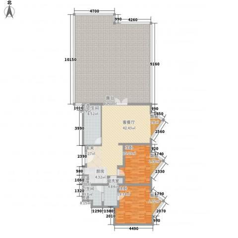静安紫苑2室1厅2卫0厨175.91㎡户型图