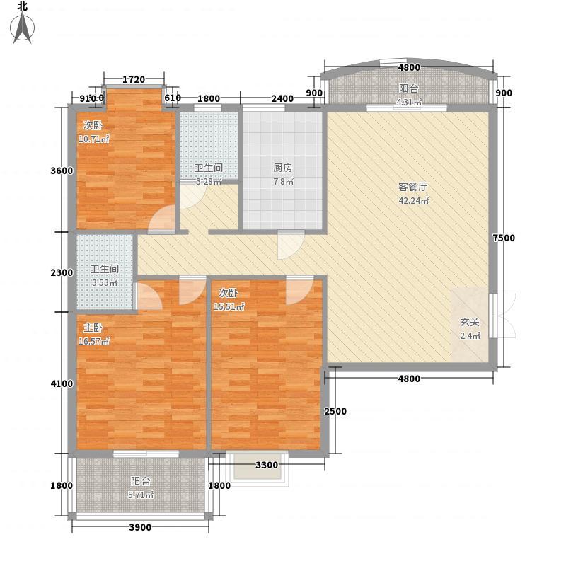 宏江国际公寓141.58㎡93a615e9ee7b0e35f96b9ad000c_p7_mk7_wm47户型3室2厅2卫1厨