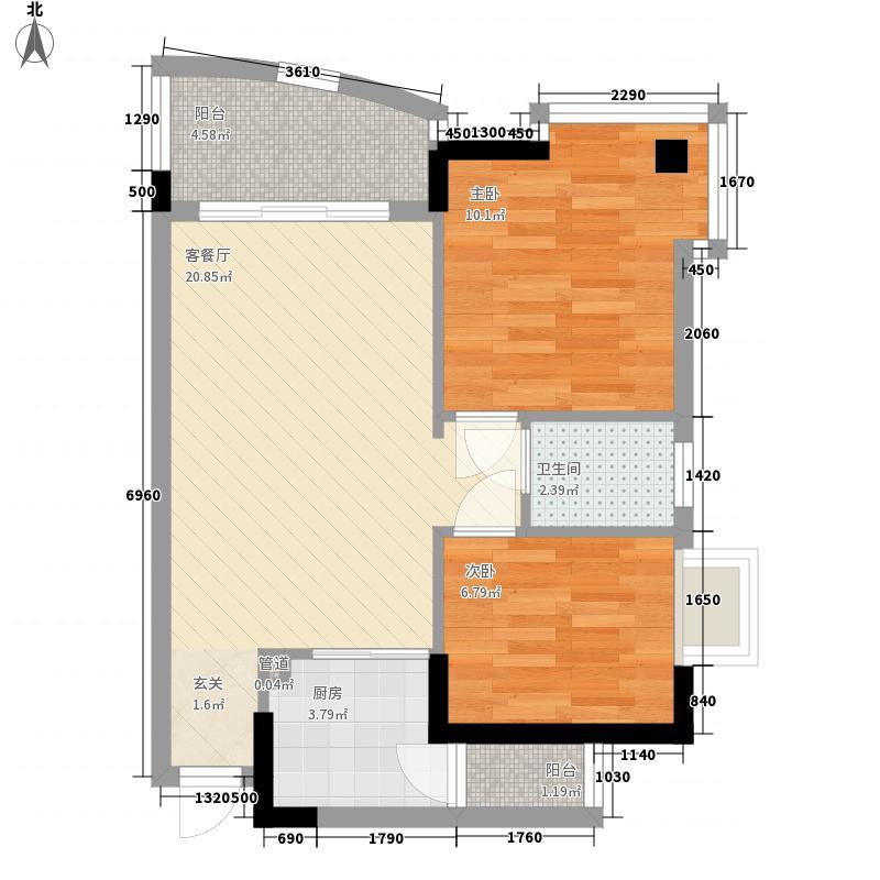 世博嘉园72.00㎡A7-0户型2室1厅1卫