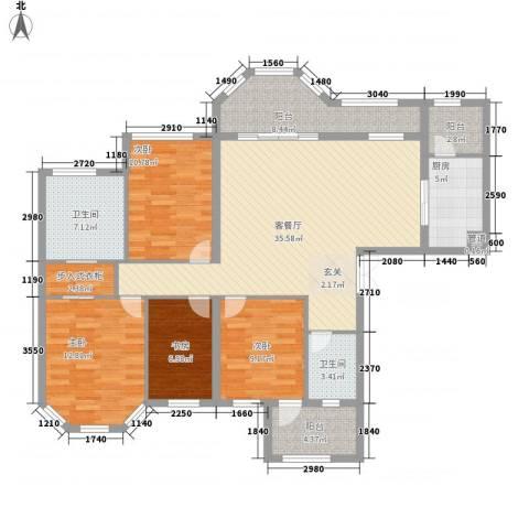 唐程御品4室1厅2卫1厨724.00㎡户型图