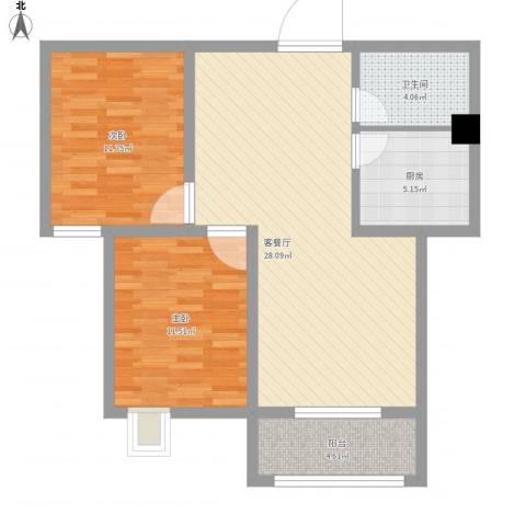 环宇国际广场2室1厅1卫1厨94.00㎡户型图