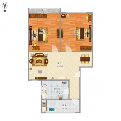 真光四街坊2室1厅1卫1厨110.00㎡户型图