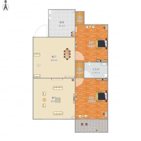 名都新城四期2室2厅1卫1厨488.00㎡户型图