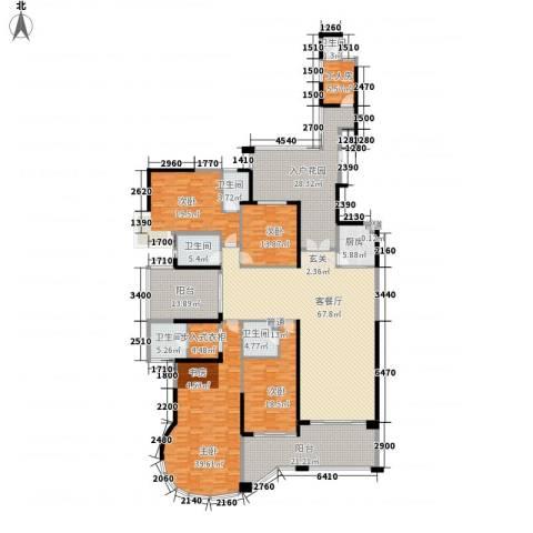 蔚蓝星湖4室1厅5卫1厨259.31㎡户型图