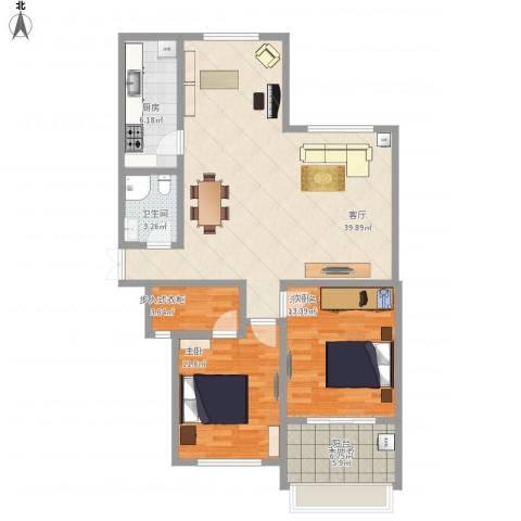 温莎杰座1室1厅1卫1厨117.00㎡户型图