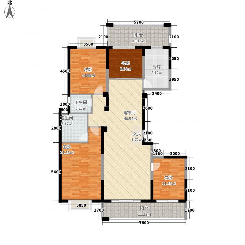 万豪・丽城11181.42㎡1#B1+户型4室2厅2卫1厨