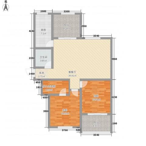 温莎杰座2室1厅1卫1厨131.00㎡户型图