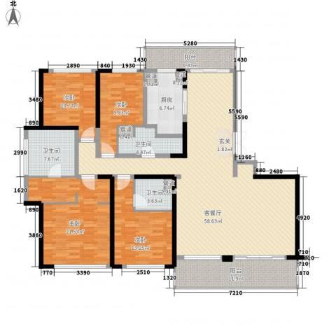 花木绿城锦绣兰庭4室1厅3卫1厨233.00㎡户型图