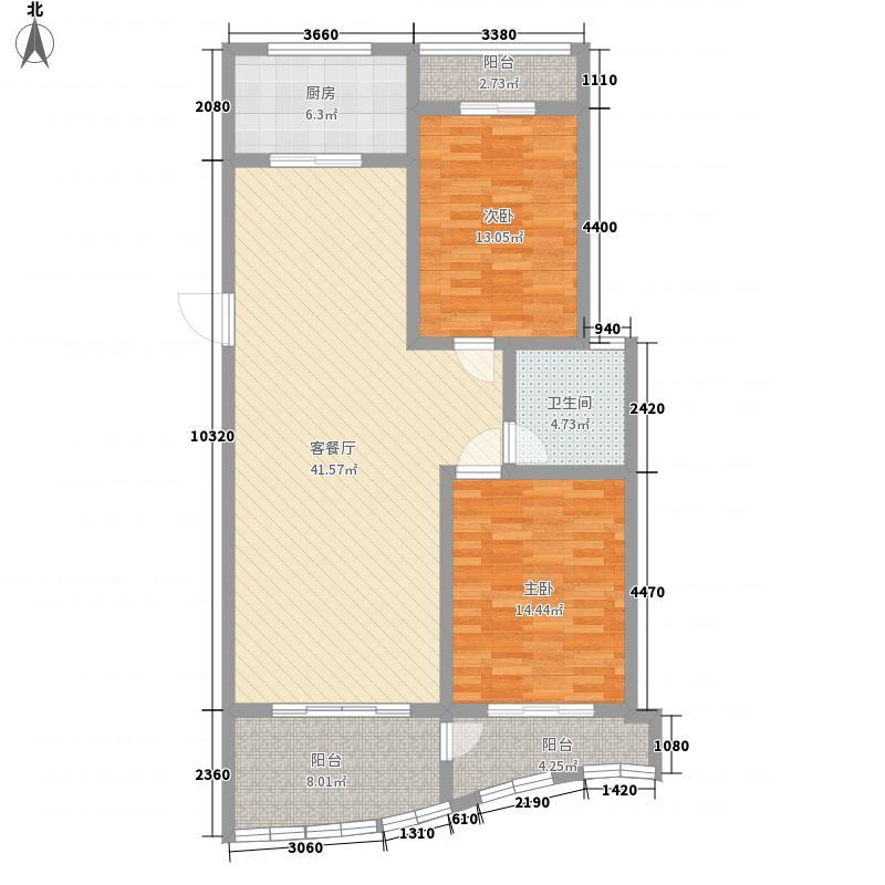 天同专家公寓户型2室2厅1卫1厨