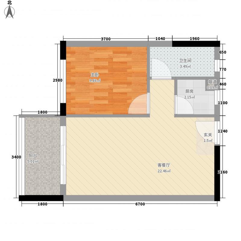 沿海江湾国际户型1室