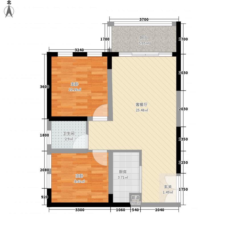 实力心城公寓A3户型