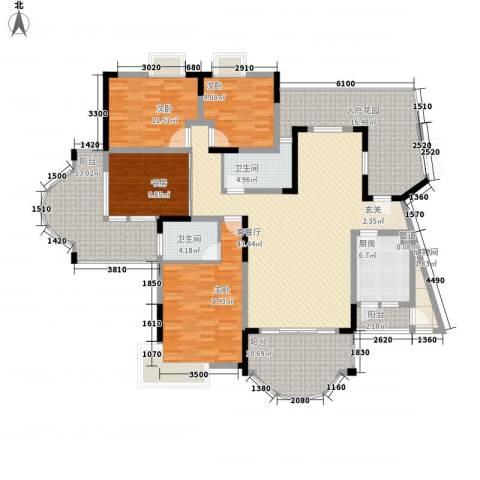 锦绣江山4室1厅2卫1厨177.00㎡户型图