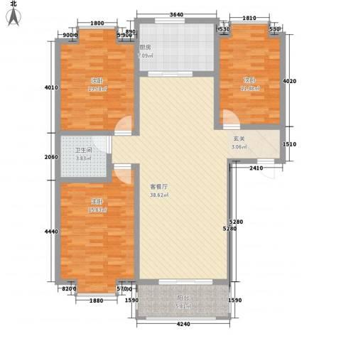 弘雅花园二期3室1厅1卫1厨136.00㎡户型图